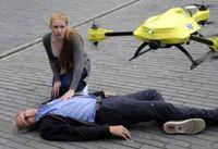 AED搭載のドローンであれば現場到着まで1分! 心停止の救命率は8%から80%にアップ!!